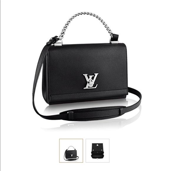 57f8d1184322 Louis Vuitton Handbags - Louis Vuitton Black Leather Lockme II BB Noir Bag